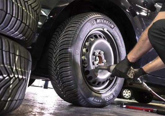Fitting a Michelin CrossClimate tyre - the first Summer tyre to be independently certified for Winter use.