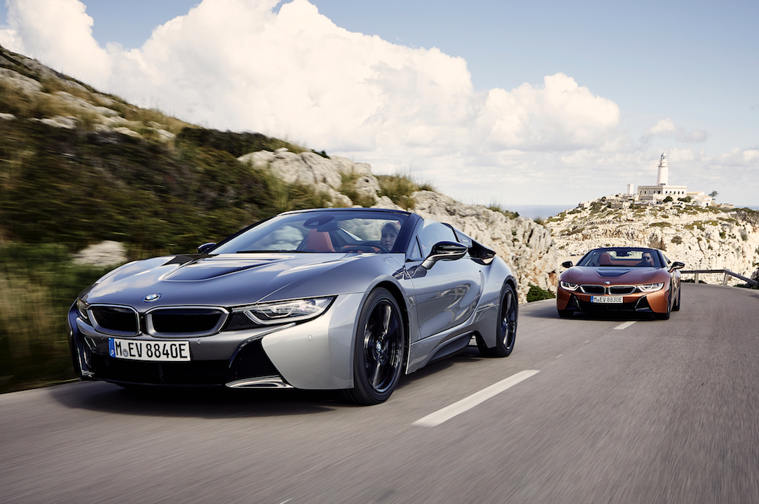 Bmw I8 Roadster Coupe Turning Heads Rev Ie